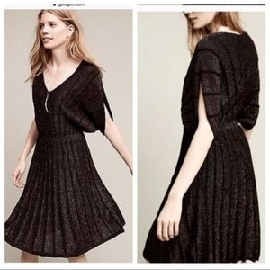 Anthro Knitted & Knotted Pleated Sweater Dress